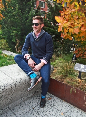 Sunglasses - Oakley, Button Down - Gap, Sweater - Tommy Hilfiger, Jeans - Tommy Hilfiger, Watch - Burberry, Shoes - Ted Baker
