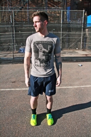 Cavan Valance wearing East Coast MMA t-shirt