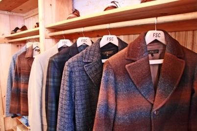 The beautiful row of coats